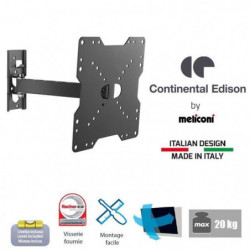 CONTINENTAL EDISON Support TV orientable TV 22-40'' VESA 200