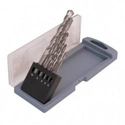 SMARTOOL Coffret de 5 forets béton ø 4-10 mm pour usage cour