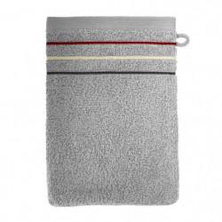 SANTENS Lot de 2 gants de toilette Teline Gris 2 x 16x22 cm
