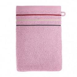 SANTENS Lot de 2 gants de toilette Teline Rose 2 x 16x22 cm