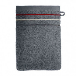 SANTENS Lot de 2 gants de toilette Teline Ardoise 2 x 16x22