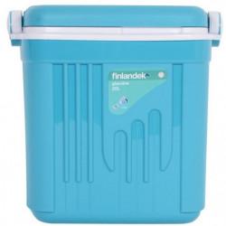 FINLANDEK Glaciere - Isolation coque et couvercle 12H - Bleu
