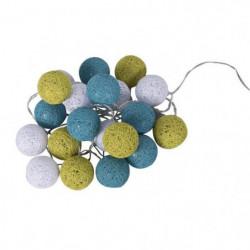 BUBBLE Guirlande lumineuse 20 lumieres - 30 cm - Turquoise,