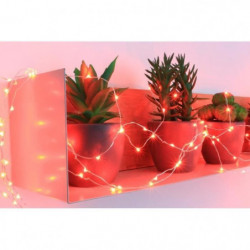 Guirlande micro-LED - 7,5 m - Rouge - 150 LED - 16 fonctions