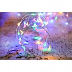 Guirlande micro-LED - 4 m - Multicolore - 80 LED - 16 foncti