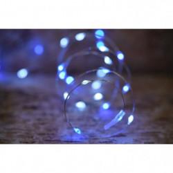 Guirlande micro-LED - 7,5 m - Bleu et pur - 75 LED - 16 fonc