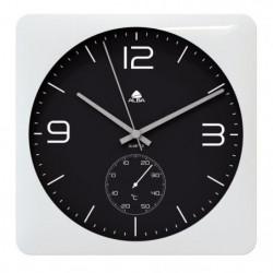 ALBA Horloge murale carrée avec fonction thermometre - 30 cm