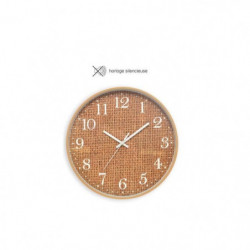 CASITA Horloge effet matiere sisal - Ø30 x 4,5 cm - Couleur