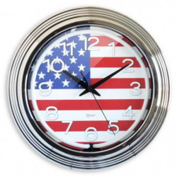 MUNDUS Horloge Néon US - Ø 38 cm - Blanc