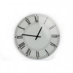 Horloge en verre - Blanc - 30 cm
