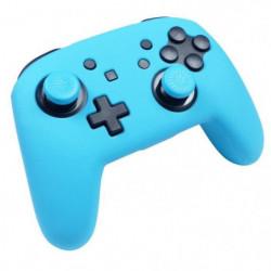 Protection en silicone bleu néon + caps Subsonic pour manett