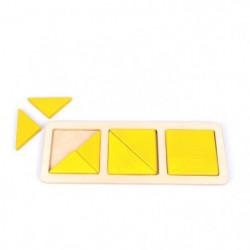 BSM - Les carrés et triangles systeme Montessori