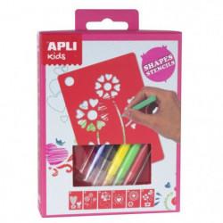 APLI Mini kit pochoirs formes assorties