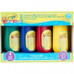 CRAYOLA 4 bouteilles de peinture aux doigts