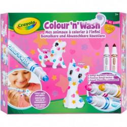 CRAYOLA - Color'N'Wash - Mes Animaux a Colorier - Emoji