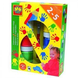 SES CREATIVE Lot de 6 pots de peinture a doigts - 6 couleurs