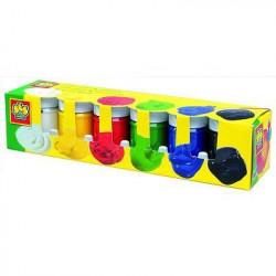 SES CREATIVE Lot de 6 pots de peinture de gouache - 50ml