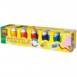 SES CREATIVE Lot 6 Peintures Textile Moderne - 6x50ml