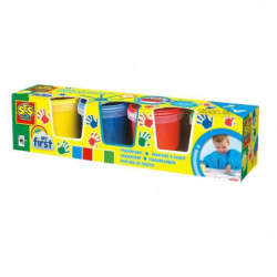 SES CREATIVE MY FIRST Peinture a Doigts - 4 couleurs x 150ml