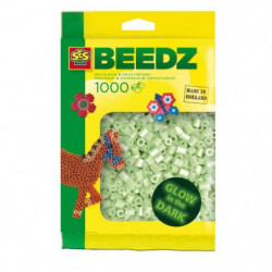 SES CREATIVE Lot de 1000 perles a repasser - Fluo