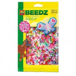 SES CREATIVE Lot de 3000 perles a repasser - Filles