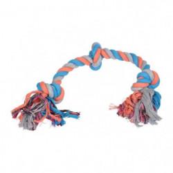 Jouet pour chien - Corde - Coton - 3 noeuds - 50cm