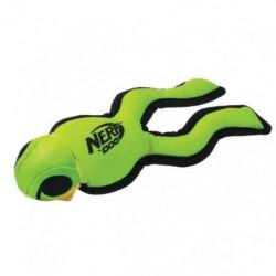 NERFDOG Grenouille Soaker - Vert fluo et noir - Pour chien