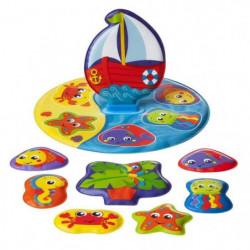 TIGEX Puzzle de bain L'île Flottante