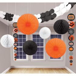 AMSCAN Kit Décoration de salle Halloween - 9 pieces - Noir e