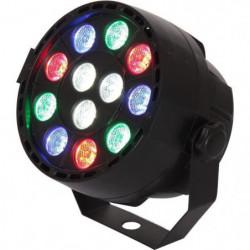 IBIZA LIGHT 15-1460 Projecteur PAR à LED - 12 x 1W RVBB
