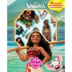 DISNEY VAIANA Plus de 10 figurines à ventouse - Livre carton