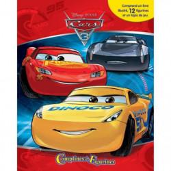 CARS 3 12 figurines et un tapis de jeu - Livre cartonné de 1