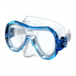 SEAC Masque de plongée Panarea Silter Clear - Médium - Bleu