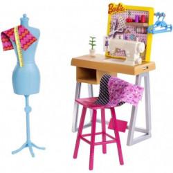 BARBIE - Coffret Atelier de Mode avec accessoires de créatio