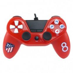 Manette filaire Pro4 rouge Atletico Madrid pour PS4, PS3 et