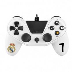 Manette filaire Pro4 blanche Real Madrid pour PS4, PS3 et PC