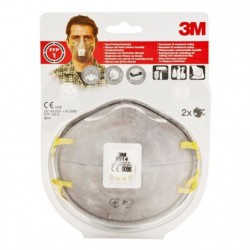 3M 2 masques respiratoires 9914SV FFP1 - Avec soupape