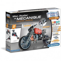 CLEMENTONI Mon Atelier de Mécanique - Roadster & Dragster