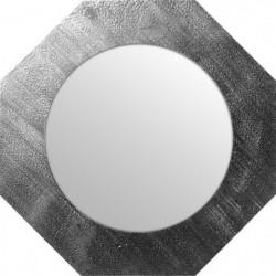 Miroir d'intérieur ortogonal - Mdf - Ø40 cm - Argent métalis