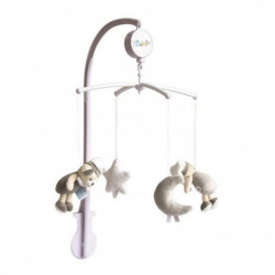 BABY NAT Mobile Musical Les Luminescents - Gris Taupe