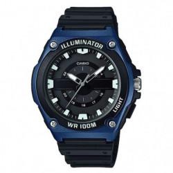 CASIO Montre Collection noire et bleue MWC-100H-2AVEF Bracel