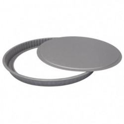 IMF Moule a tarte fond amovible Steel - Ø 31 cm - Gris