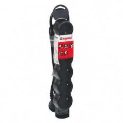 LEGRAND Rallonge multiprise standard 6x2 P+T cordon 3 m noir