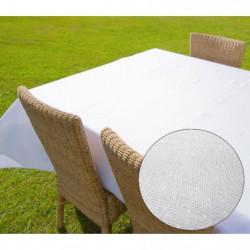 SUCRE D'OCRE Nappe de table carré BELLA 180x180 cm - Blanc