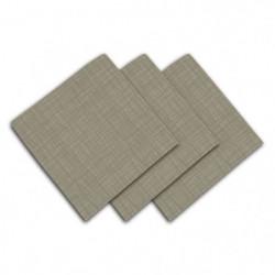 SOLEIL D'OCRE Lot de 3 serviettes de table - Galaxy - 45x45
