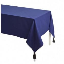 TODAY Nappe Unie CYCLADES 140x240 100% coton lavé Bleu
