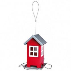 Mangeoire pour oiseaux 19 × 20 × 19 cm rouge argent