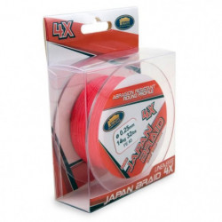 LINEAEFFE Tresse de peche Japan Braid 4X - Rouge - Ø 0,20 mm
