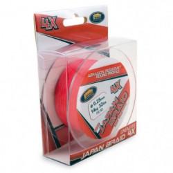 LINEAEFFE Tresse de peche Japan Braid 4X - Rouge - Ø 0,25 mm
