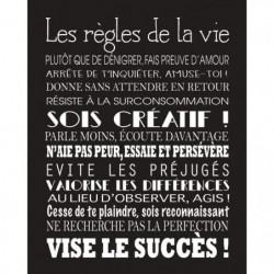 LIFE Image contrecollée 40x50 cm Les regles de la vie